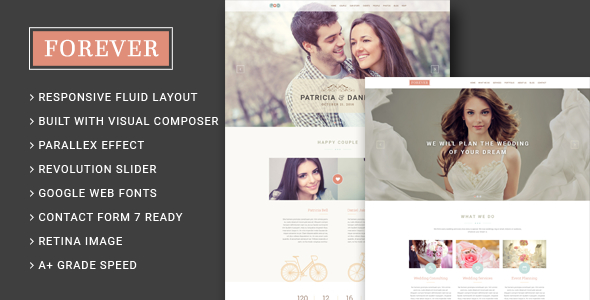Forever Wedding Couple & Wedding Planner Agency WordPress Theme Review