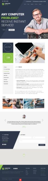 The Repair – Computer - Mobile and Electronics Repair WordPress Theme Review