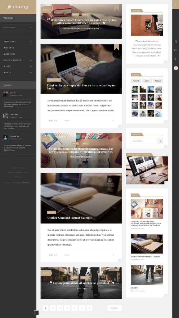 Monarch Innovative WordPress Community Theme Review