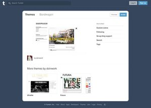 Bandwagon Tumblr Theme – Free Tumblr Theme For Music Website