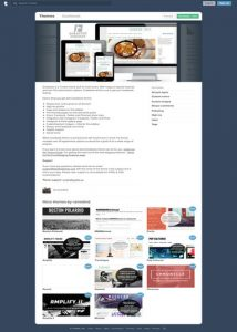 Cookbook Tumblr Theme For Restaurant Website