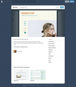 Orange Pop Tumblr Theme – Free Tumblr Theme For Fitness Blog