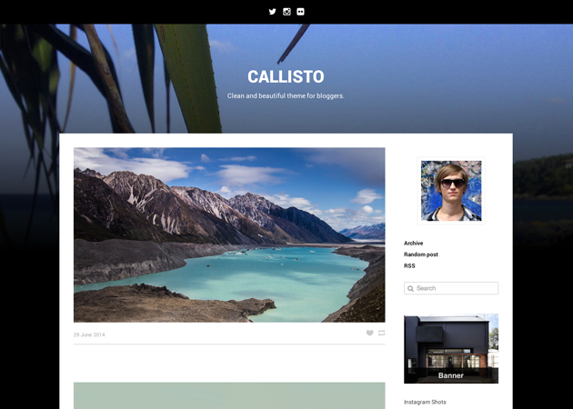 callisto wordpress theme