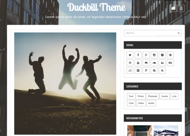 duckbill tumblr theme