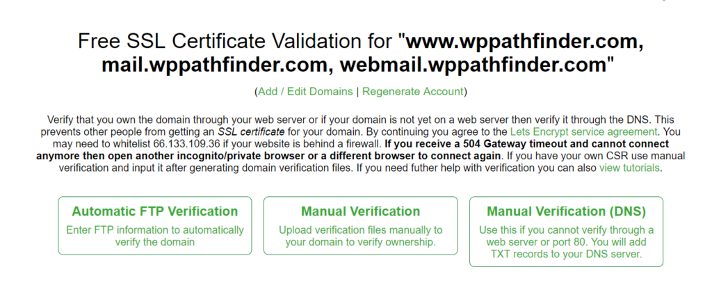 manual ssl verification