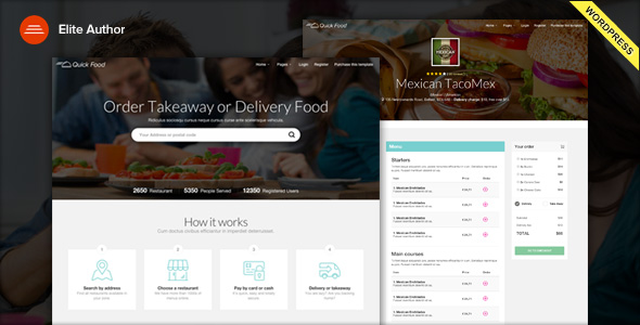 quick food delivery wordpress theme