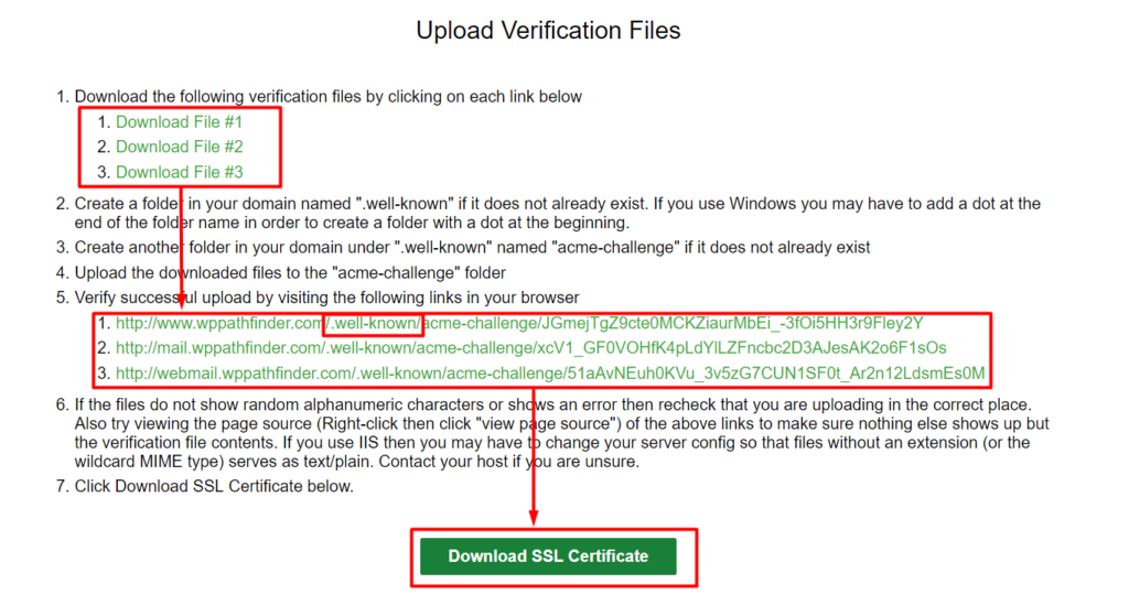 ssl certificate installation process for free