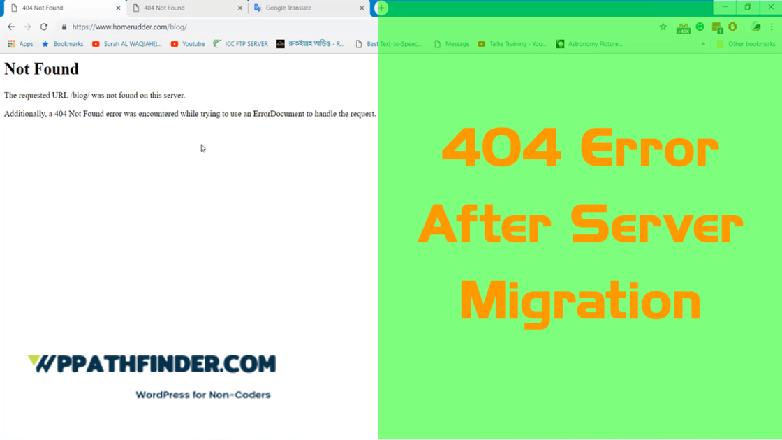 How to Solve WordPress 404 Server Migration Error