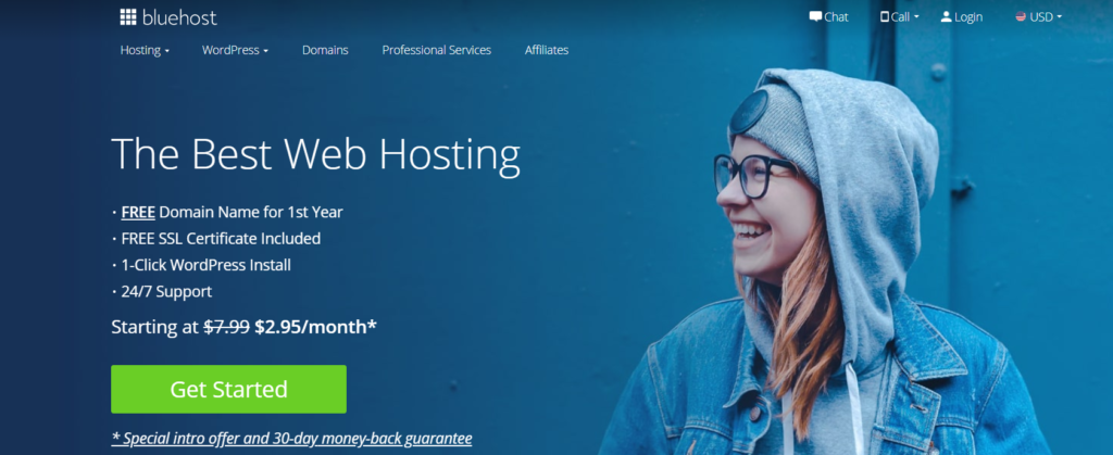 start with bluehost