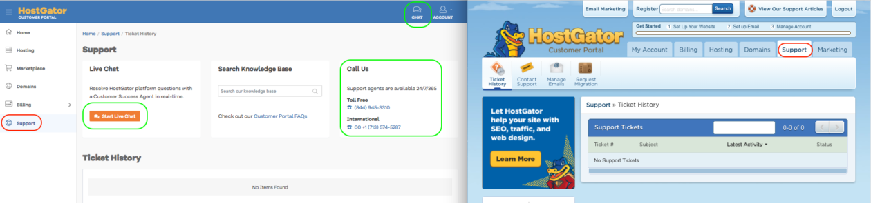 Hostgator Support