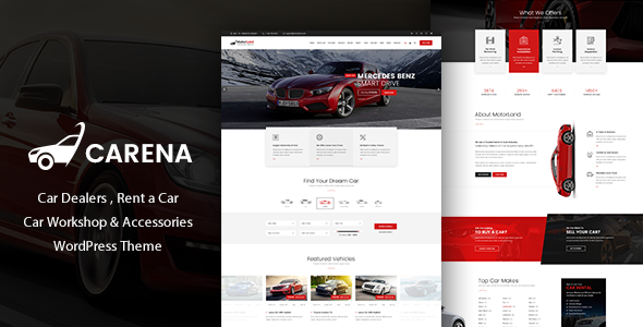 Carena Car Rental Service WordPress Theme