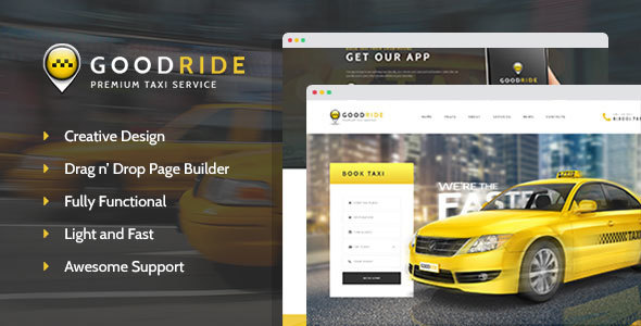 Good Ride Taxi Booking WordPress Theme