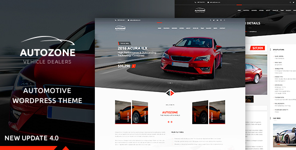 autozone automotive car dealer WordPress Theme
