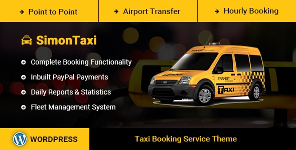 cab booking dealership wordpress theme