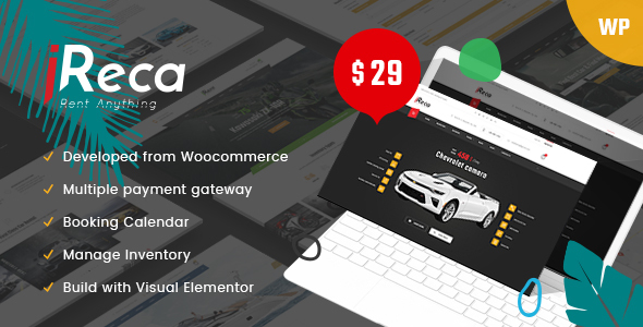 vehical renatal wordpress theme