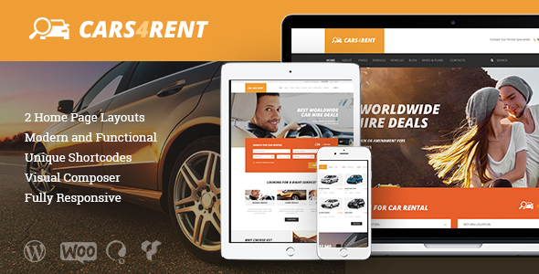 cars for rent wordpress theme