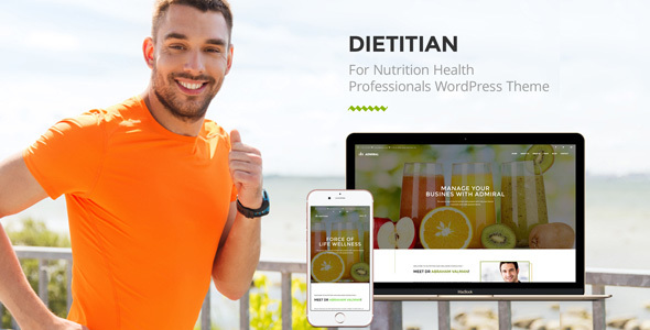 dietitian website WordPress Theme for health professionals