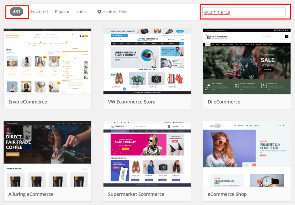 ecommerce free wordpress themes
