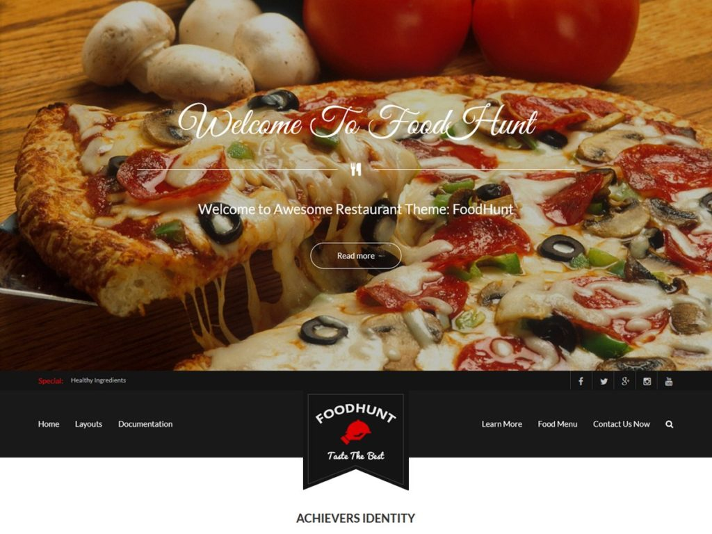 food hunt free food delivery wordpress theme