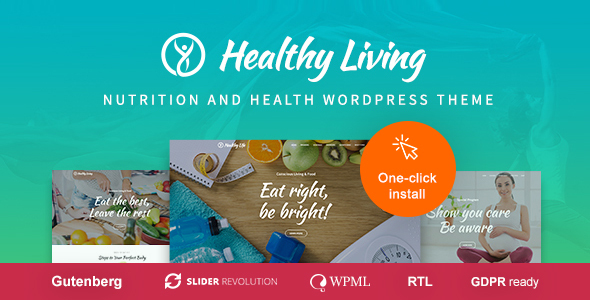 healthy living health professional wordpress theme