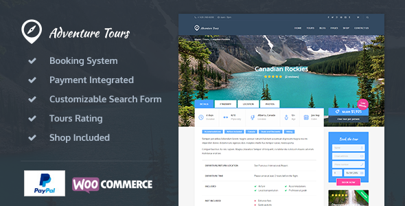 Adventure Tours - Mountaineering WordPress TourTravel Theme