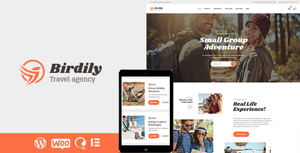 Birdily Travel Agency & Tour Management WordPress Theme