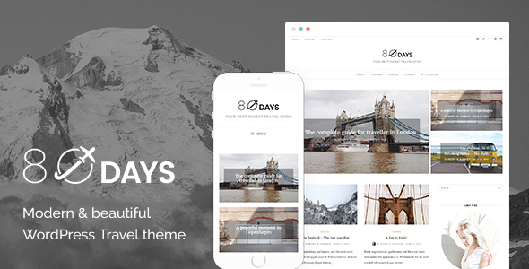 EightyDays - Best Travel Blog WordPress Theme