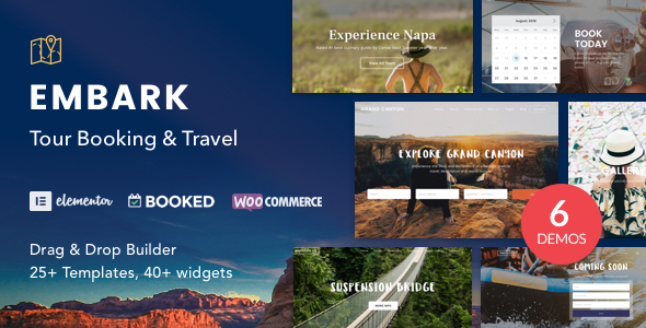 Embark Tour Booking WordPress Theme