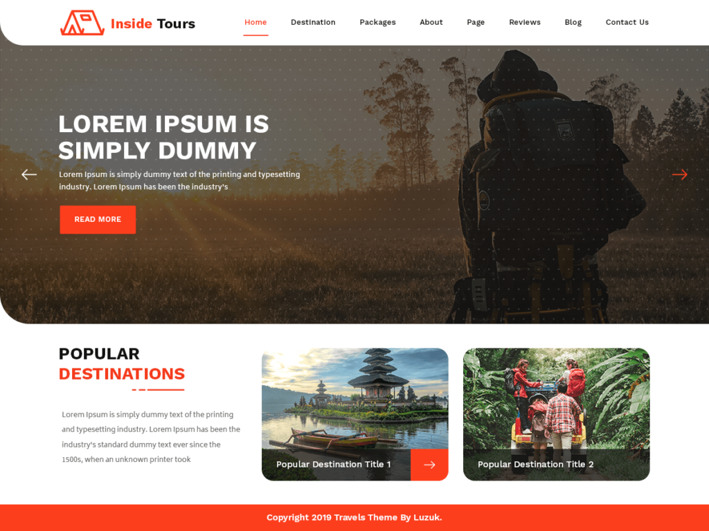 Inside Tours - Hiking & Climbing Travel WordPress Theme