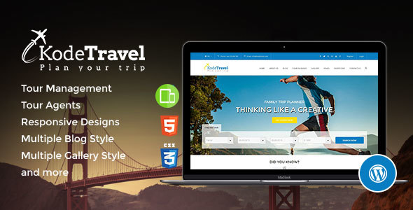 KodeTravel & Tourism WordPress Theme for Tour Operators