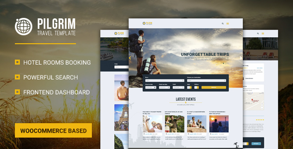 Pilgrim — Travel Booking Event Management WordPress Theme