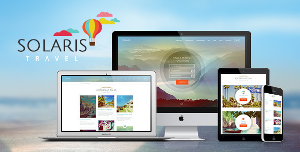 Solaris Travel Agency and Tour Booking Tourism WordPress Theme