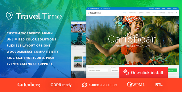 Travel Time - Travel & Tour Community WordPress Theme