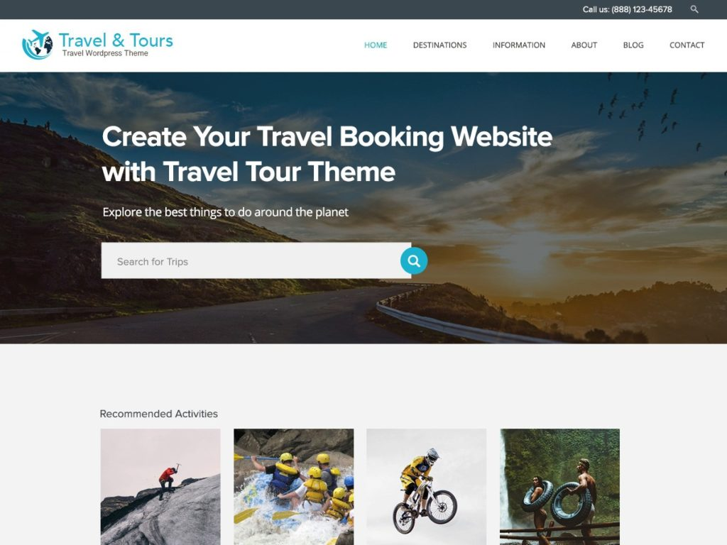 Travel Tour Mountain Biking & Riding WordPress Theme