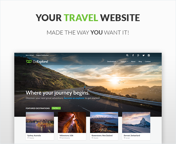 Travel WordPress Theme - GoExplore