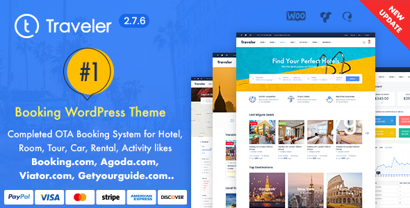 Traveller Travel Booking WordPress Theme for affiliate marketers
