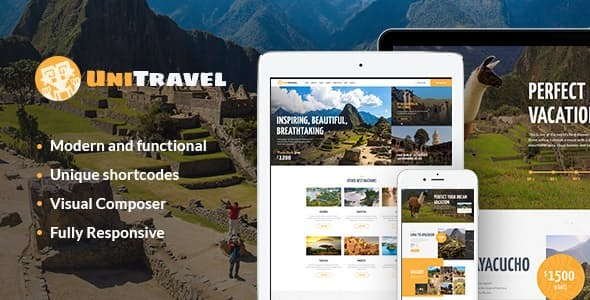 UniTravel Mountain Riding - Hiking - Climbing WordPress Theme
