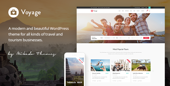 Voyage - Travel & Tour Booking Theme for Mountain Climbing Agencies