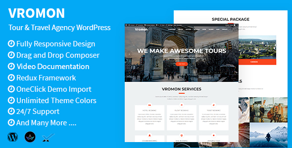 Vromon - Travel Guide - Sports & Outdoor WordPress Theme