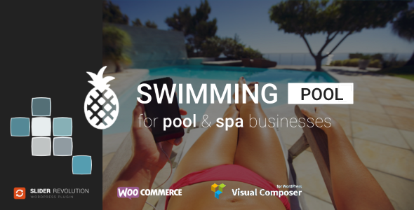 swimming pool & spa service WordPress theme