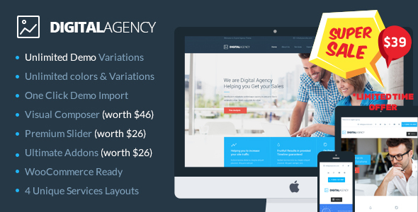 Digital Agency SEO Marketing WordPress Theme