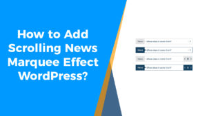 How to add scrolling news WordPress-01
