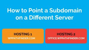 how to host subdomain on different server